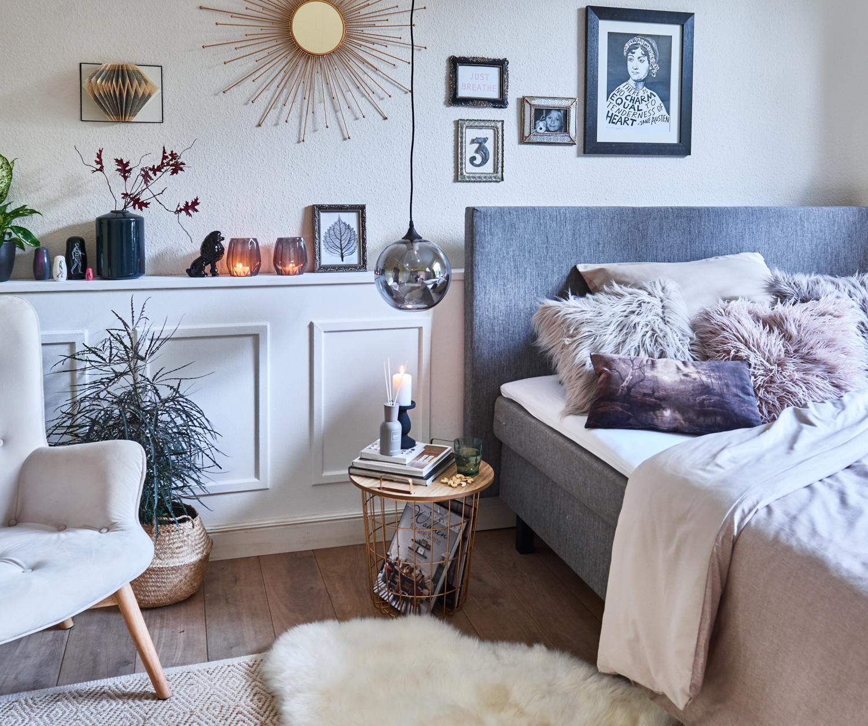Boxspringbett bilder ideen couchstyle for Beistelltisch boxspringbett