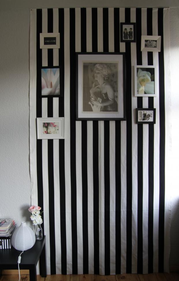 gestreifter vorhang bilder ideen couchstyle. Black Bedroom Furniture Sets. Home Design Ideas