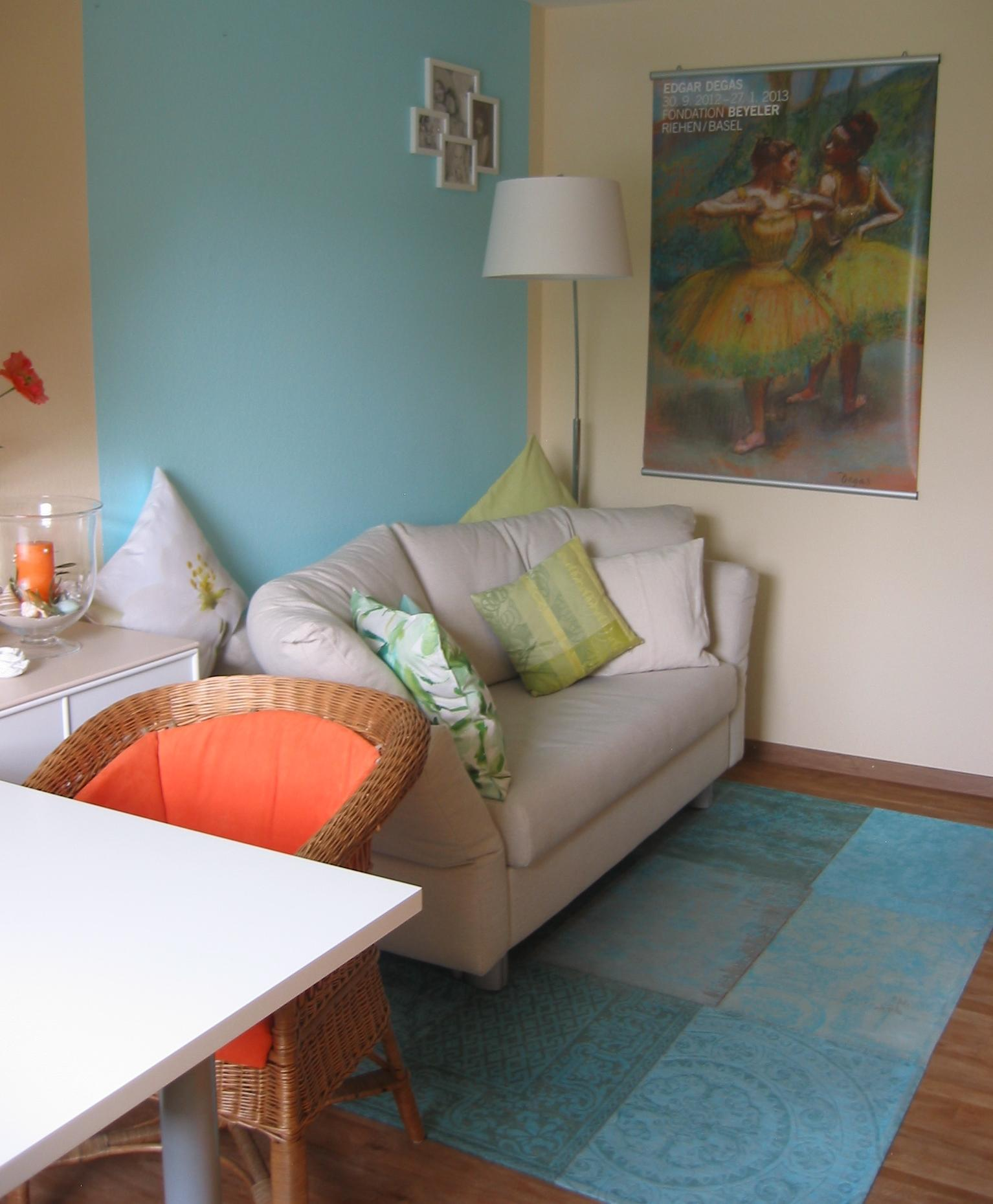 Wandfarbe in t rkis bilder ideen couchstyle for Wandfarbe arbeitszimmer