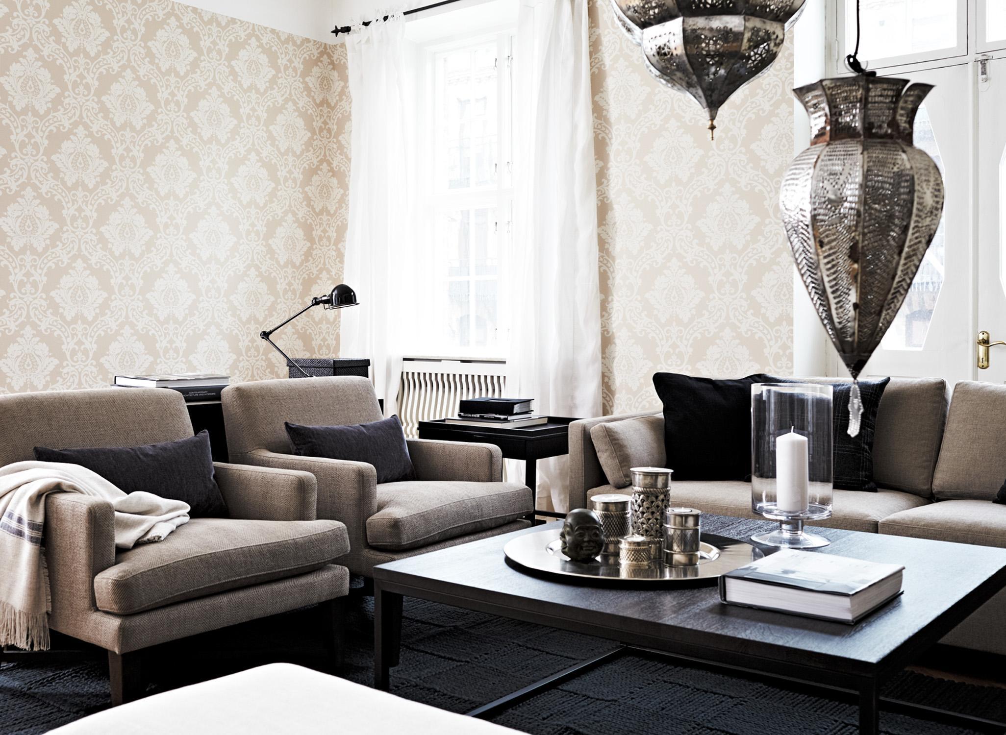 Schwarze vitrine bilder ideen couchstyle for Schwarze mustertapete