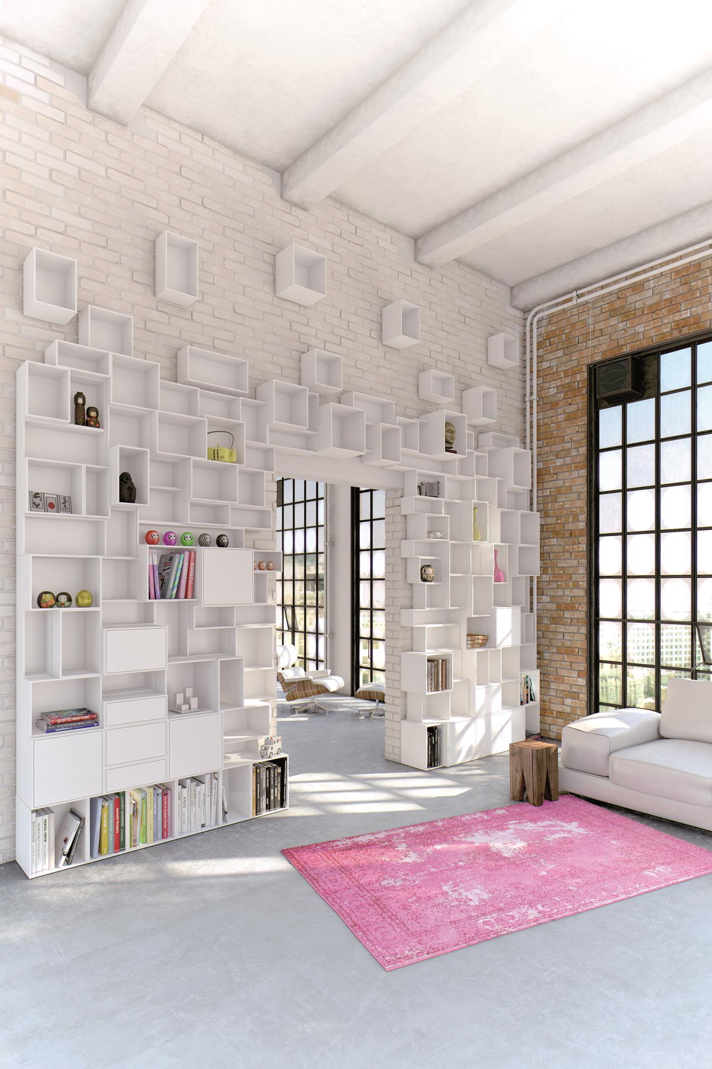 Steintapete inspiration f r wandgestaltung bei couch - Wandgestaltung bei dachschragen ...