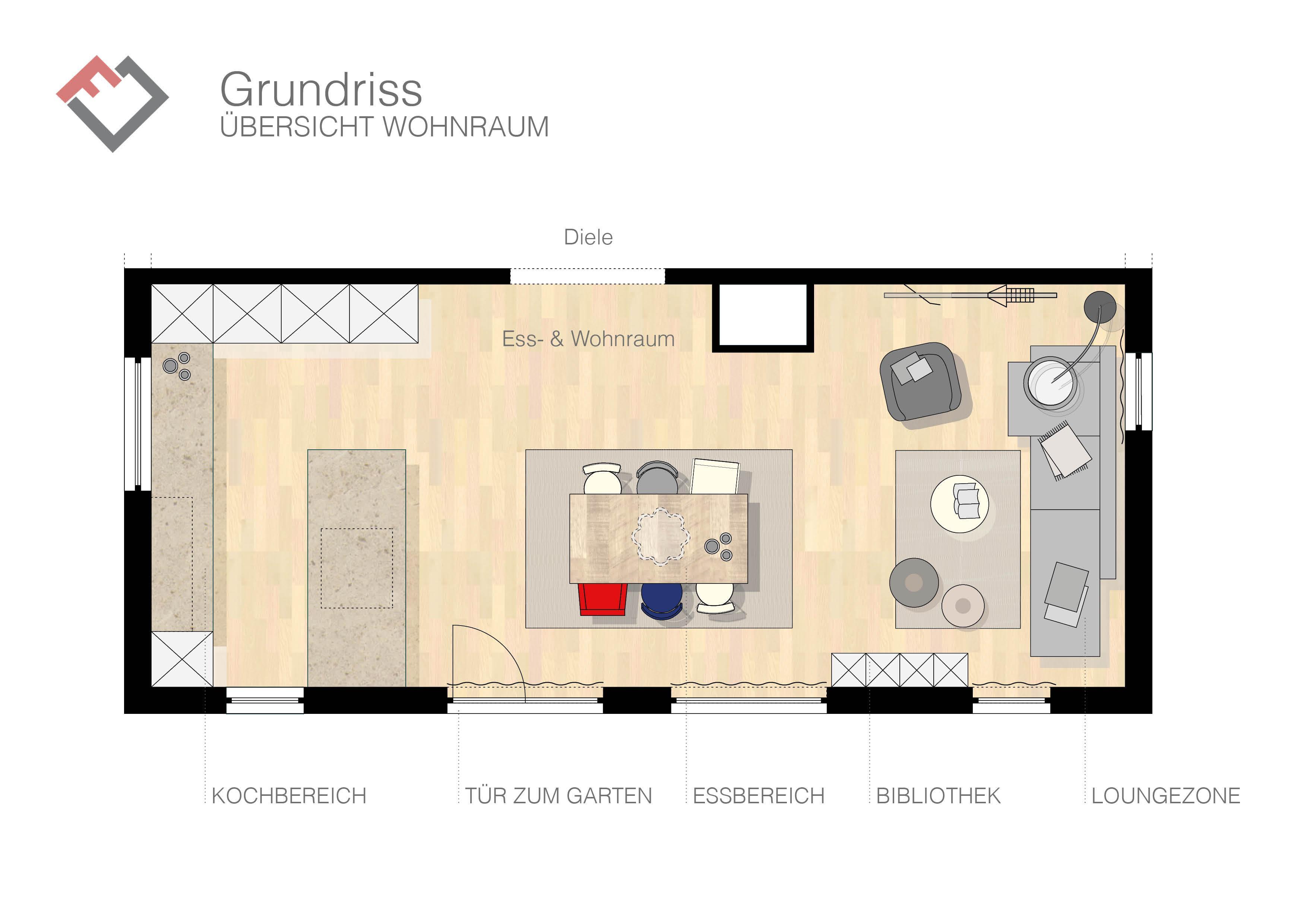 Offener wohn und essbereich bilder ideen couchstyle for Wohn und einrichtungs ideen