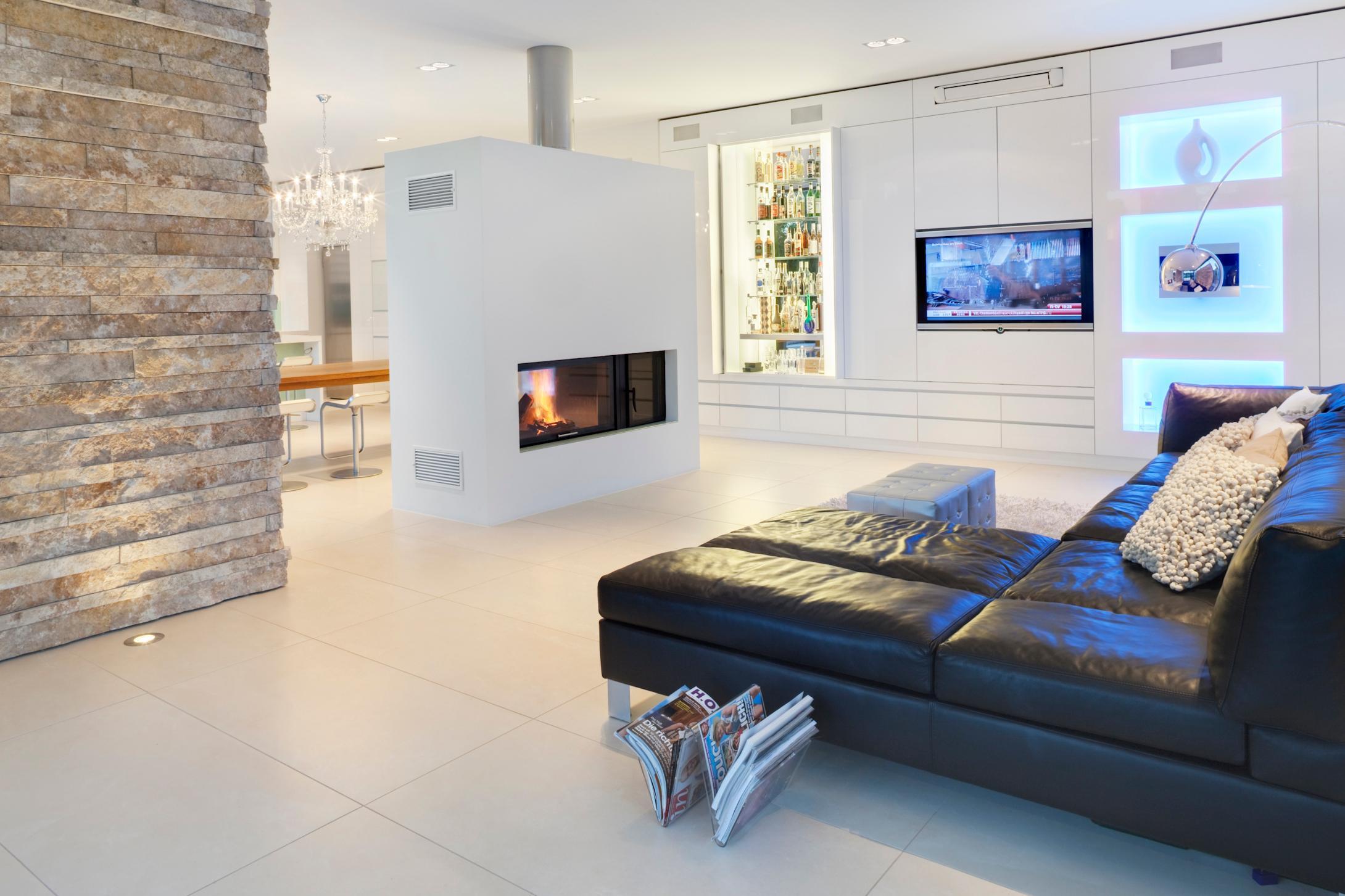 Feuerstelle bilder ideen couchstyle - Offene feuerstelle wohnzimmer ...